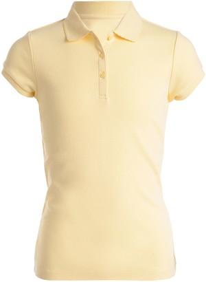 9b29a8b5 Chaps Girls 4-16 & Plus School Uniform Picot Polo Shirt