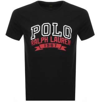 Ralph Lauren Logo Print Custom Fit T Shirt Black