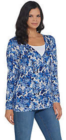 Factory Quacker Floral Printed Button FrontKnit Cardigan
