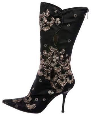 Jimmy Choo Satin Printed Boots
