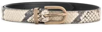 Philosophy di Lorenzo Serafini snakeskin-effect belt