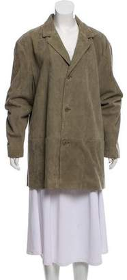 Calvin Klein Collection Suede Short Coat