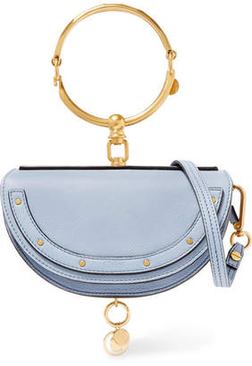 Chloé Nile Bracelet Mini Textured-leather Shoulder Bag - Light blue