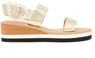 Ancient Greek Sandals Clio Rainbow wedge-heel leather sandals