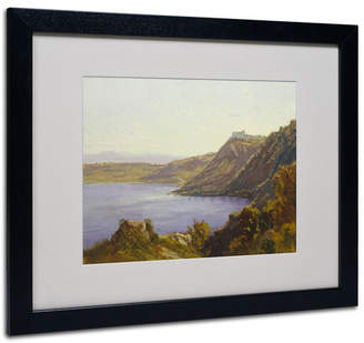 "Albano Antoine Joinville 'The Lake' Matted Framed Art - 20"" x 16"""