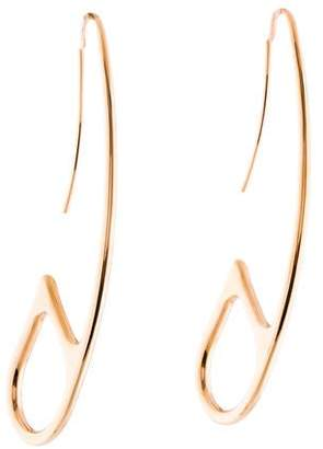 Hermes 18K Chaîne d'Ancre Punk Earrings