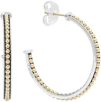 Lagos 'Enso' Caviar Hoop Earrings