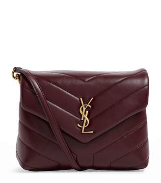 Saint Laurent Leather Monogram Shoulder Bag