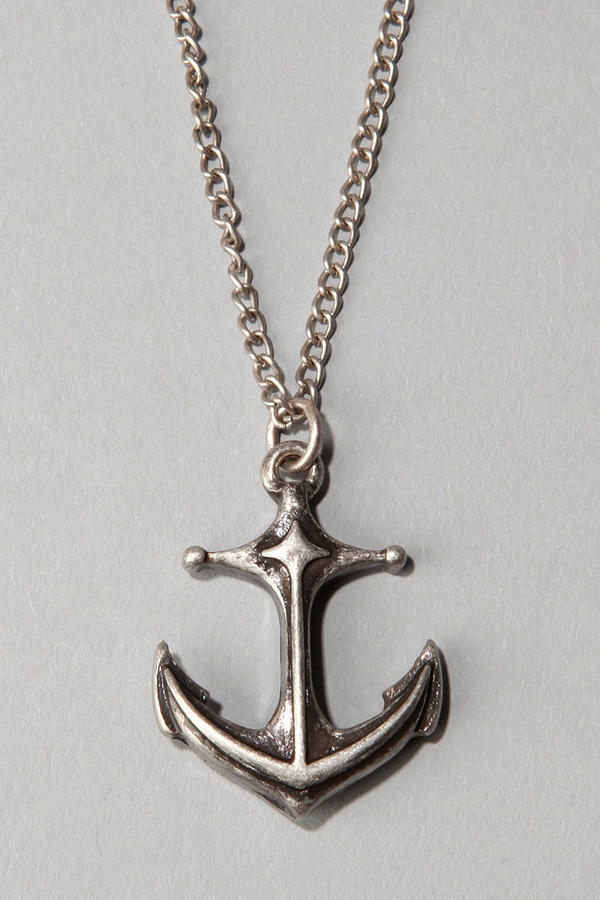 Urban Outfitters Anchor Pendant Necklace