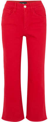 W4 Shelter Cropped High-rise Flared Jeans