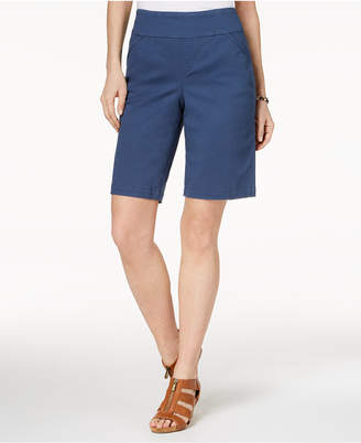 Style&Co. Style & Co Petite Pull-On Comfort-Fit Bermuda Shorts, Created for Macy's