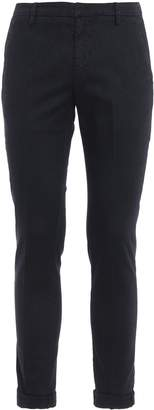 Dondup Gaubert Dark Blue Patterned Cotton Trousers