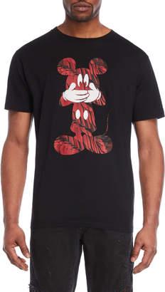 Marcelo Burlon County of Milan Black Mickey Mouse Tee