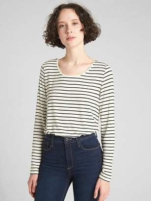 Gap Long Sleeve Stripe T-Shirt in Luxe Jersey