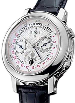 "Patek Philippe Sky Moon Tourbillion Celestial Minute Repeater"" Platinum Mens Strapwatch"