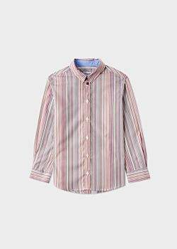 Paul Smith Boys' 2-6 Years Signature Stripe Cotton Shirt