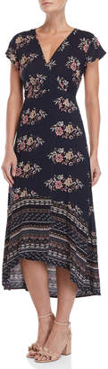Onetheland Floral Hi-Low Maxi Dress