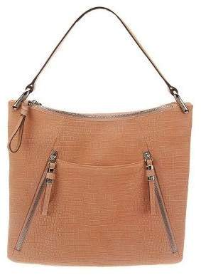 B. Makowsky Sun Washed Croco Embossed Leather Hobo Bag