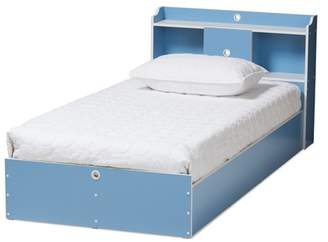 Baxton Studio Twin 2pc Aeluin Contemporary Children's Finished Bedroom Set Blue/White