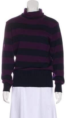 Emporio Armani Stripe Wool Sweater Navy Stripe Wool Sweater