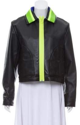 Martina Spetlova Leather Biker Jacket w/ Tags
