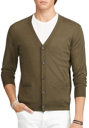 Polo Ralph Lauren Cashmere V-Neck Cardigan Sweater $298 thestylecure.com