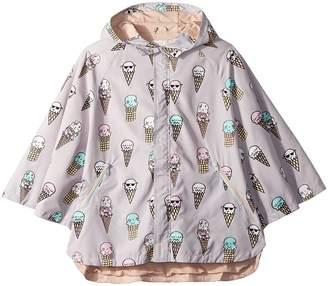Stella McCartney Froggie Ice Cream Print Rain Cape Girl's Coat
