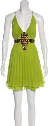 Just Cavalli Pleated Silk Dress
