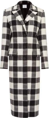ELENAREVA Full-length wool Checked Coat