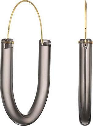 """Kenneth Jay Lane Women's 2 1/3"""" Gold Wire with U Shape Pierced Earrings"""