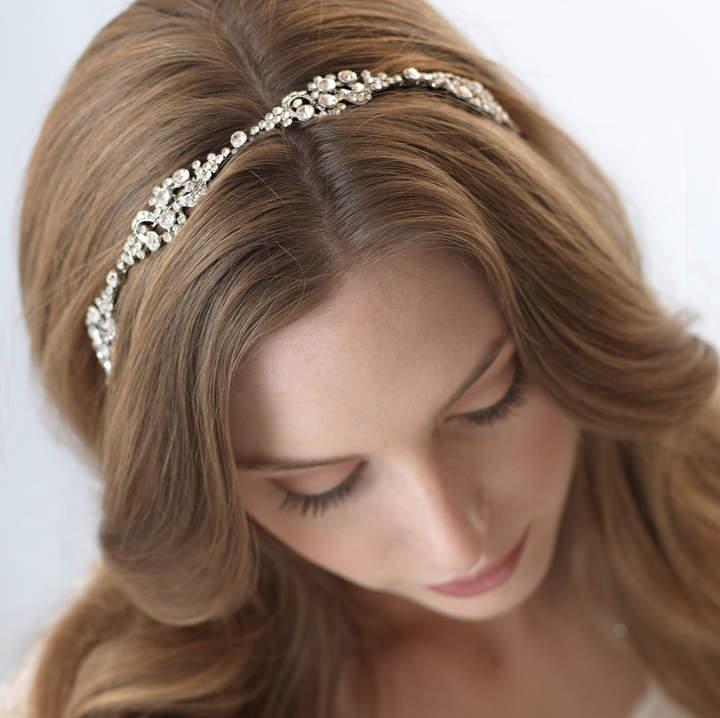 Etsy Vintage Bridal Headband, Rhinestone Wedding Headband, Bridal Headpiece, Bridal Hair Accessory, Antiq