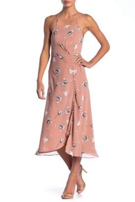 Bardot Twist Cutout Midi Dress