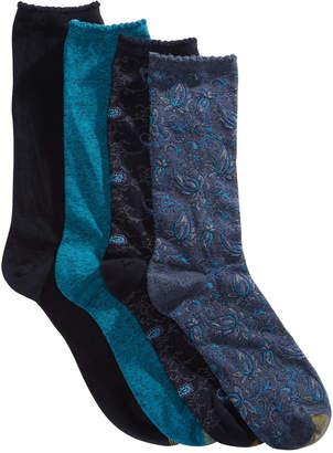 Gold Toe 4-Pk. Paisley Crew Socks 5978F
