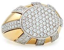 Miseno 18k Gold Diamond Sun Ray Ring