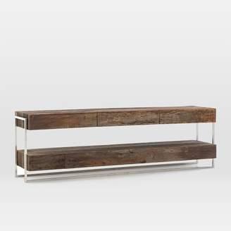 west elm Modern Reclaimed Wood + Metal Media Console