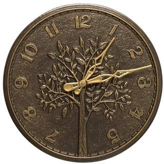 """Whitehall Products 16"""" Tree of Life Indoor/Outdoor Wall Clock"""