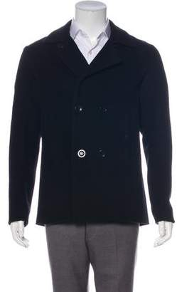 Vince Wool Double-Breasted Peacoat
