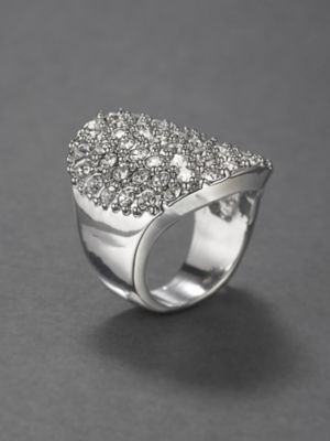 City Bright Pave Cluster Ring