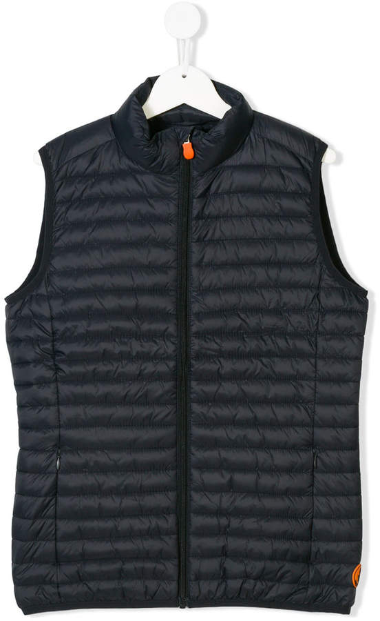 Save The Duck Kids padded zipped vest