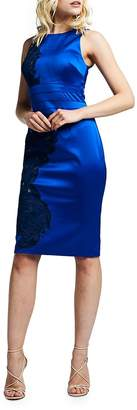 Kay Unger Women's Satin Royal Bodycon Dress