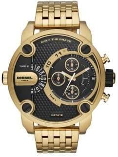 Diesel Little Daddy Stainless Steel Seven-Link Bracelet Watch