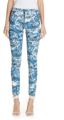 Off-White Tapestry Print Skinny Jeans