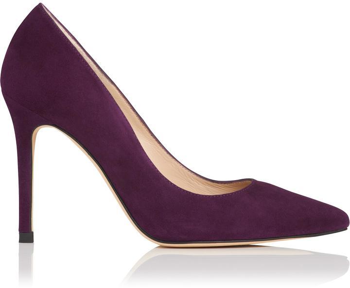 Purple Suede Heels - ShopStyle Australia
