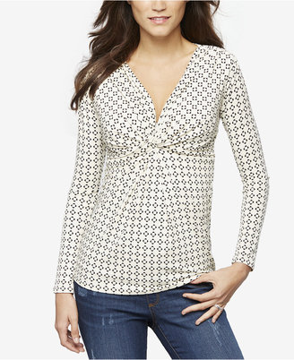 A Pea In The Pod Nursing Twist-Front Top $79 thestylecure.com