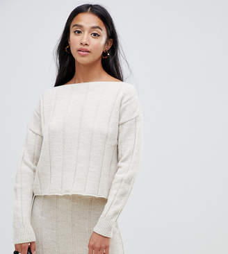 Asos DESIGN petite two-piece sweater in wide rib