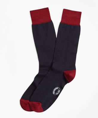 Brooks Brothers Marled Color-Block Wool-Blend Socks