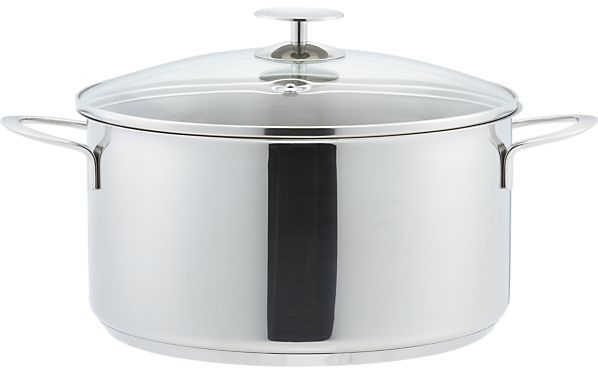 Crate & Barrel Stainless Cookware by Berndes Chili Pot Dutch Oven. 7 qt.