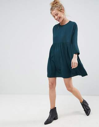 Asos Long Sleeve Smock Mini Dress