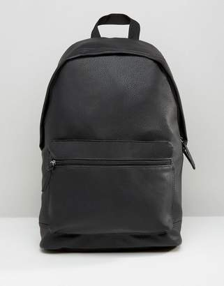 Asos DESIGN backpack in grain faux leather