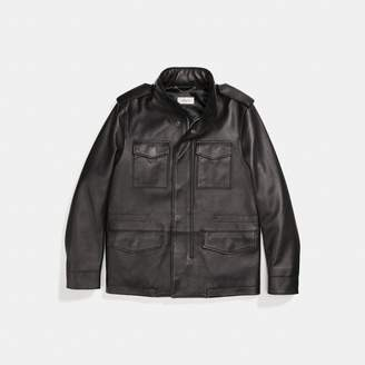 Coach Burnished Leather M65 Jacket